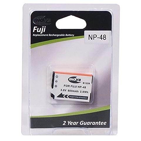Inov8 Replacement Lithium Digital Camera Battery R-C-B Fuji NP-48, NP 48, NP48, 800mAh 3.6V