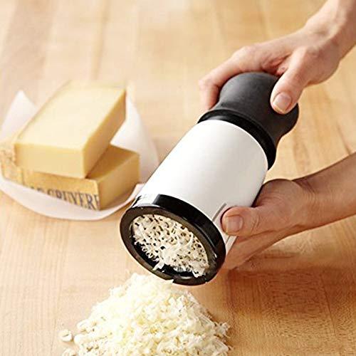 Behavetw - Rallador de Queso Manual con Cuchillas Intercambiables para quesos, Jengibre, Black+White, Tamaño Libre
