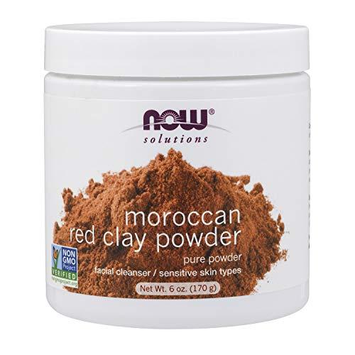 Now Foods Solutions I Moroccan Red Clay Powder I Tonerde 100% pur I Hautpflege I 170g -