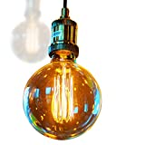 Lot de 4 Ampoules Edison G25/G80-E27 Filament 60W 220V Verre Ambre