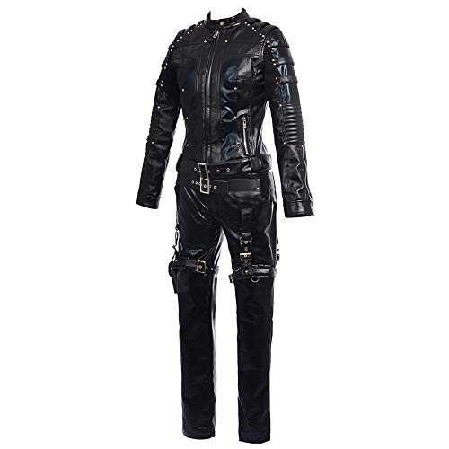 TYYM cosplay Kostüme für Erwachsene, Arrow Black Canary COS Clothing Lederbekleidung Für Erwachsene Zum Spielen Full - Black Canary Kostüm