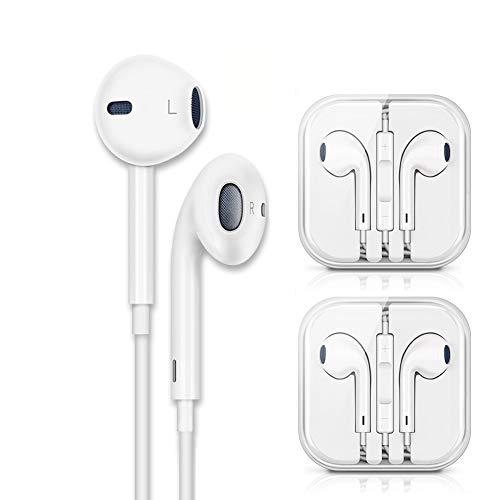 Cuffie 2 Pack Auricolari con Telecomando e Microfono per iPhone6 6s 6 Plus 5 5s 5c 4s 4 iPad iPod...