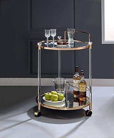 ComfortScape Kitchen Service Cart with Open Storage & Wine Bottle Rack Holder