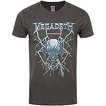 30847efb115c3 Megadeth Elec Vic Camiseta Gris Marengo