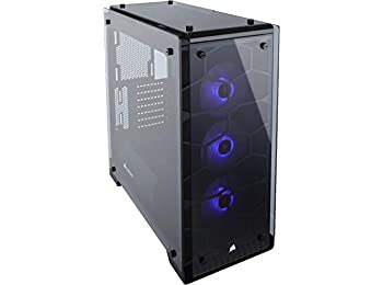 Corsair CC-9011098-WW 3 x 120 mm Crystal Series 570X RGB Mid Tower Computer Chassis - Black