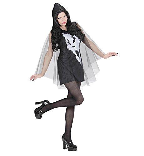Widmann 02881 - Erwachsenenkostüm Screaming Ghost Lady, Kleid mit Kapuze und Umhang, Größe S Einfache Geist Schuhe Für Frauen