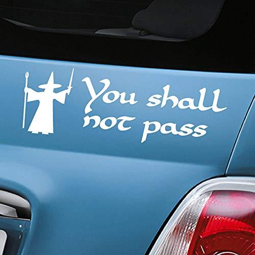 You shall not pass Gandalf weiß Auto Aufkleber Aufkleber Vinyl Fenster Aufkleber-(One P & P Laden Egal wie viele Artikel, die Sie kaufen aerialballs.)