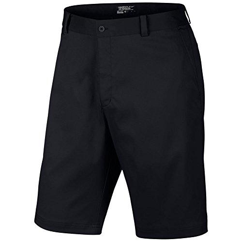 Nike Men's Flat Front Shorts, Schwarz, Gr.36