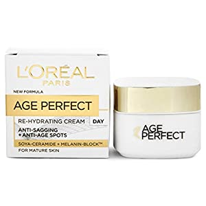 L'Oreal Paris Age Perfect Rehydrating Anti Ageing Day Cream, Face Cream for Mature Skin 50 ml