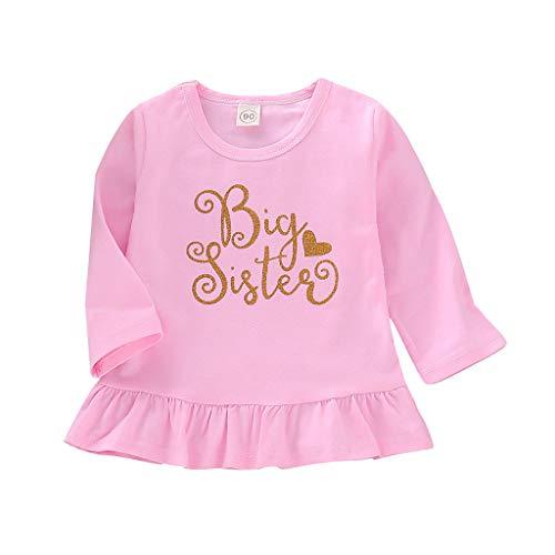 Saingace(TM) Baby Mädchen Kleid,Baby Kind Mädchen Kleinkind Geschwister Langarm Brief Party Prinzessin Kleider Kleidung