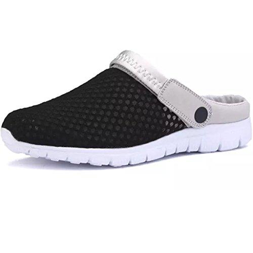 Eagsouni Sommer Slip-On Clogs Hausschuhe Atmungsaktiv Mesh Pantoletten Outdoor Rutschfest Sandalen Herren Damen Schuhe (Mesh-pantoletten)