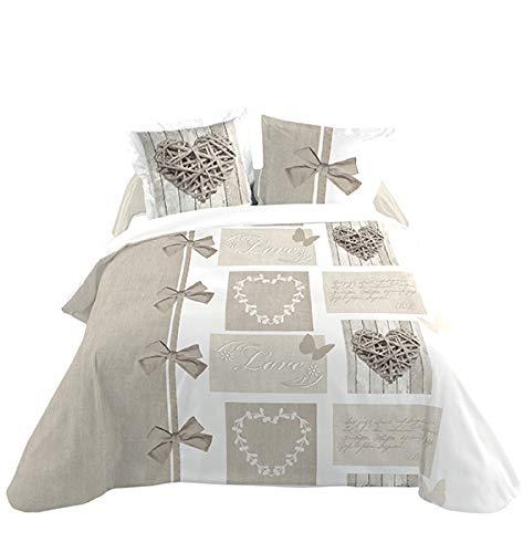 Lovely casa 'biancheria da letto heart 240x 260cm + 2assortierter federa per cuscino 63x 63cm 100% cotone