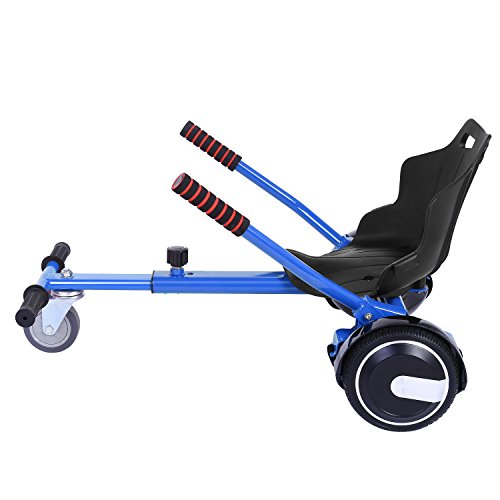 Acecoree Hoverbart Sitz GoKart Einfache Montage| Stabiler Rahmen Balancing Elektroroller Classic Kinderfahrzeug Dreirad Sitz Spielzeug,für Sitzscooter 6,5, 8, 10 Zoll (Blau)
