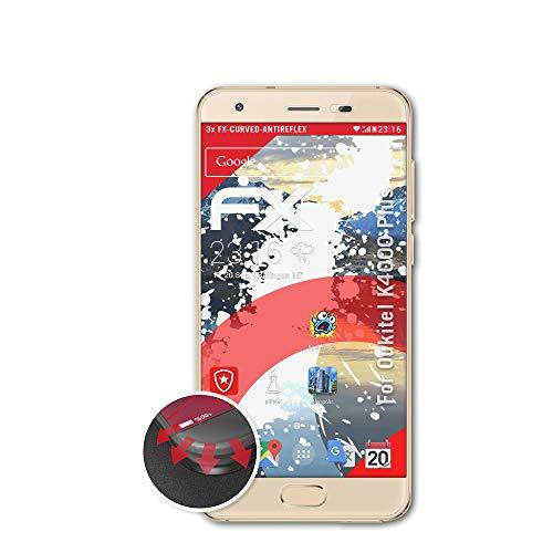 atFolix Schutzfolie passend für Oukitel K4000 Plus Folie, entspiegelnde & Flexible FX Bildschirmschutzfolie (3X)