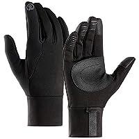 ZHJBD Equipo de Proteccion/Guantes de equitación para Deportes al Aire Libre Pantalla táctil Hombres y Mujeres a Prueba de Viento Warm Plus Velvet Slip Finger Gloves (Color : Black, Size : L)