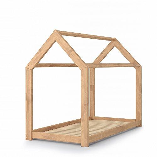 VICCO Kinderbett Kinderhaus Bett Kinder Holz Haus Schlafen Spielbett Hausbett 80x160