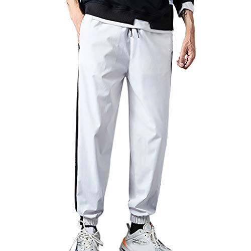 Herren Lose Patchwork Taschen Einfarbig Outdoor Sport Im Freien Freizeit Knöchellange Hosen