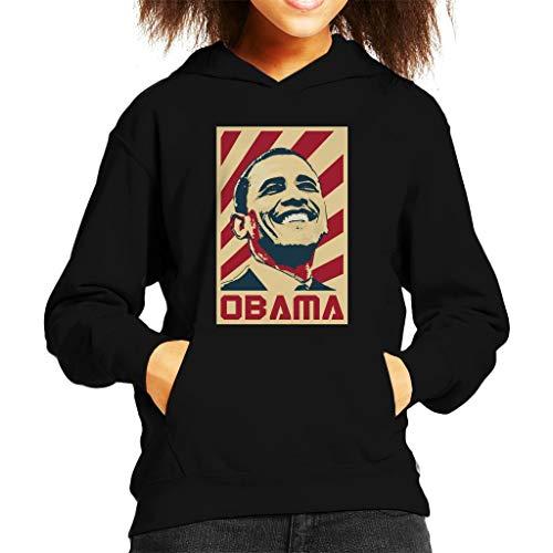 Cloud City 7 Barack Obama Retro Propaganda Kid's Hooded Sweatshirt Barack Obama Sweatshirt