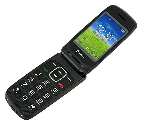 OLYMPIA Primus schwarz Komfort-Mobiltelefon mit Großtasten und Farb-LC-Display 8GB Speicher -