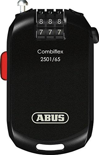 Abus Combiflex 2501 Câble-antivol vélo Mixte Adulte, Noir, 65 cm
