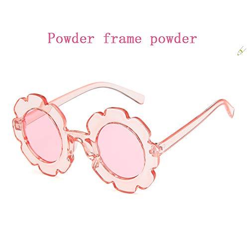 YDJGY Neue Niedliche Sonnenblume Kinder Sonnenbrille MäNner Und Frauen Joker Konkave Form PersöNlichkeit Baby Anti-Uv-Sonnenbrille