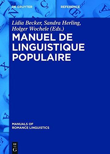 Manuel de linguistique populaire (Manuals of Romance Linguistics)