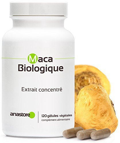 MACA BIO * 500 mg / 120 gélules végétales * Extrait concentré 4:1 (Organic Macatonic ™) * Qualité contrôlée par certificat d'analyse * 100% satisfait ou remboursé