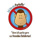 parkaffe.de 50 Wasserfeste Sticker Gegen Falschparker in der Einfahrt, PARKAFFE Aufkleber für die Windschutzscheibe