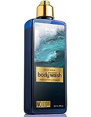 WOW Wild Aqua Foaming Body Wash No Parabens Sulphate Silic