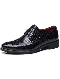 Zapatos de Hombre de Cuero Derby Oxfords Brogue Vestir Informal Otoño Cómodos Calzado Zapatillas Talla Grande Negro Azul Rojo 38-48 EU