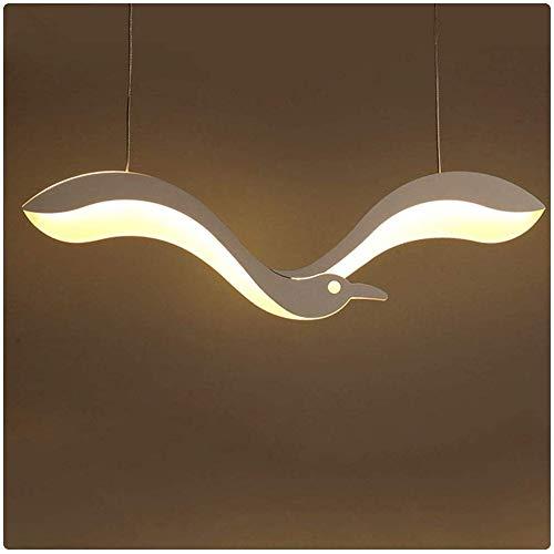 Raelf LED-Flachdeckenpendelleuchte aus Schmiedeeisen Kronleuchter Rücklicht-moderne miniaturisierte Beleuchtung, 13W weißes Licht Wohnzimmer Acryl Lampenschirm Esszimmer Schlafzimmer dekoratives Licht