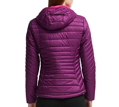 Icebreaker Damen Stratus Long Sleeve Zip äußeren Schichten Kapuze maroon/raspberry