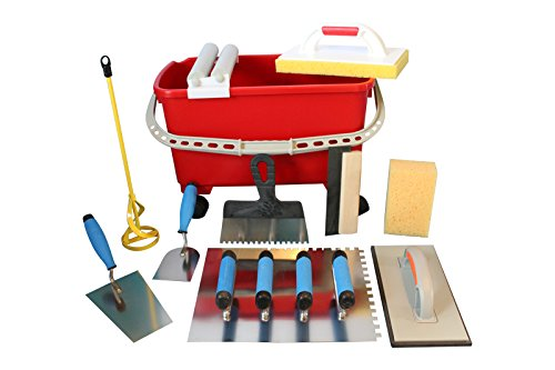 Preisvergleich Produktbild Grosses Fliesenwaschset Fliesenwascheimer 23 Liter + Werkzeugset
