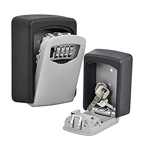 Imurz 4 Digit Wall Mounted Safe Box Secure Combination Lock Key box Outdoor Home …