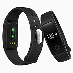 Syntrino Hr 107 Heart Rate Monitor, Bluetooth Smart Band And Fitness Tracker (Black)