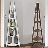 Generic Bücherregal/Bücherregal/Ständer für Zuhause, Farbe: zufällige Farbauswahl, Eckregal, Leiter, Schuppe, Weiß, hoch
