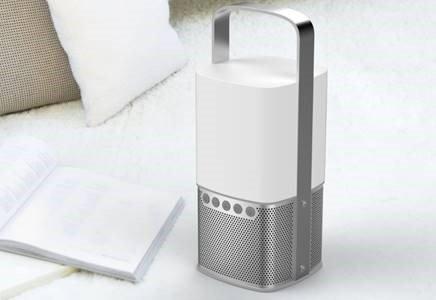 Scansonic SC-LIGHTHOUSE-SI Enceinte Bluetooth pour Téléphone Bluetooth Argent