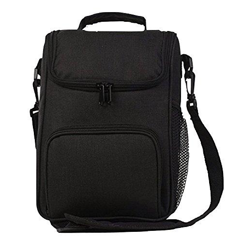 Hhgold borsa termica pranzo ufficio piccola nera zaino termico frigo nero (colore : nero)