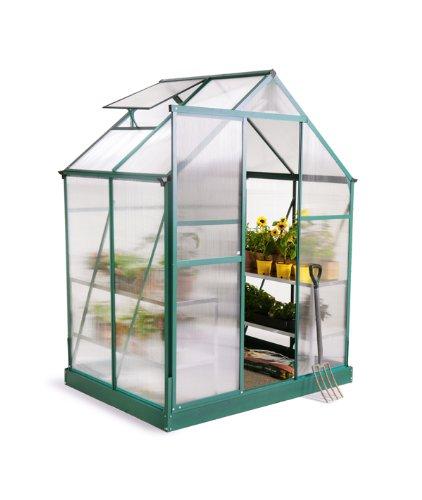 Serre Verte Lacewing Tradition 2,23 m² en Aluminium avec embase