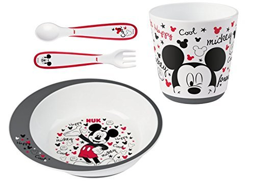 NUK 80890653 Disney Mickey Esslernset, Geschenkbox, BPA frei, ab 9 Monate, mehrfarbig