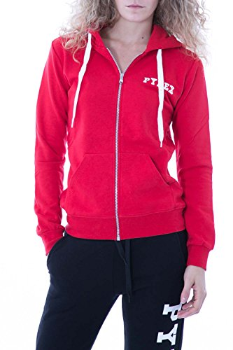 PYREX - Damen regular fit kapuzen sweatshirt 33014 Rot