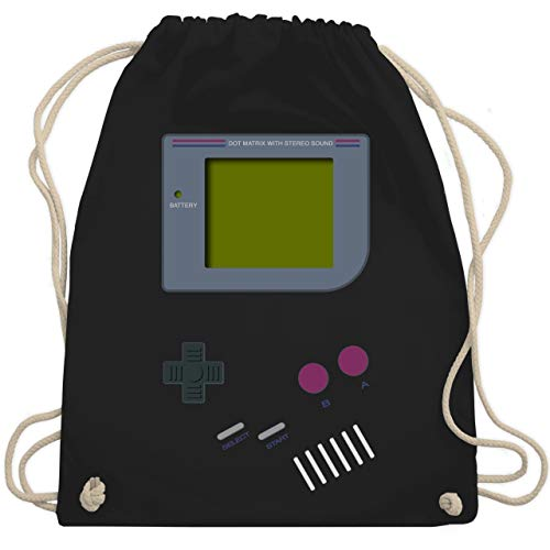 Kostüm Nerd Cute - Nerds & Geeks - Gameboy - Unisize - Schwarz - WM110 - Turnbeutel & Gym Bag