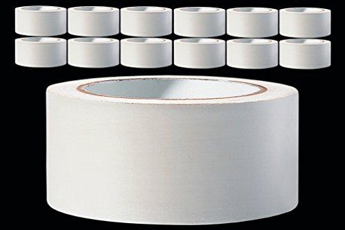 12 x PVC Schutzband glatt 50 mm PROFI Putzband 33 m weiss Putzerband Bautenschutzband Putzer Klebeband Putz Abdeckband