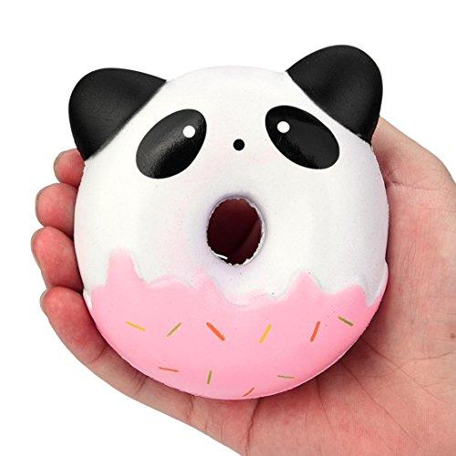 �e Panda Donuts Kawaii Creme duftenden langsam steigenden Stress Relief Spielzeug Anti Stress Stressball zum Kneten Squeeze Kawaii Stress im Alltag für Erwachser Kinder (B) (Die Beste Halloween Jemals)