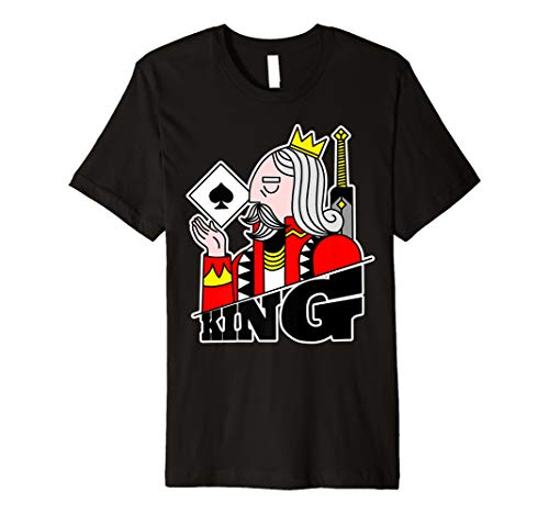King Spades Anzug T-Shirt Poker Kostüm Graphic Tee His ()