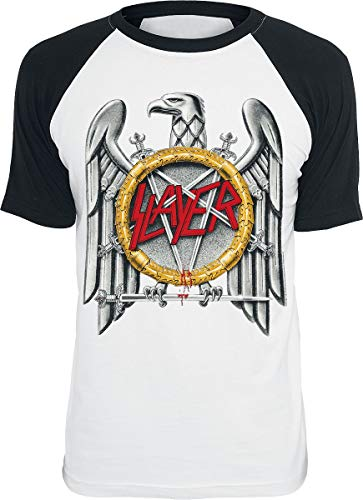 Slayer Eagle Camiseta Blanco-Negro M