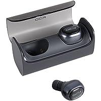 Wireless Headsets, QCY Q29 Mini Dual V4.1 Bluetooth Kopfhörer mit Ladekoffer 12 Stunden Stereo Musik Time Built Mic für iPhone 7 Plus, Samsung, HTC, Motorola und die meisten Android Smartphone (Grau)