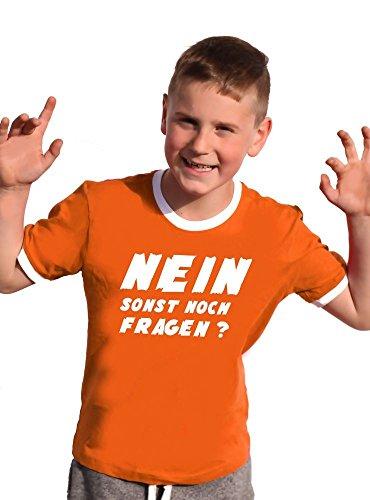NEIN ! Sonst noch Fragen ? T-Shirt Kinder Ringer orange, 140
