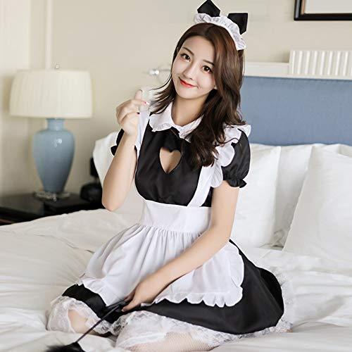 Französisch Dienstmädchen Kostüm - Ocamo Dienstmädchen Kostüm Französisch Schürze Magd Diener Lolita Kostüm,Frauen Sexy Liebendes Herz