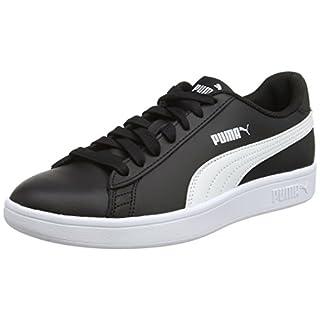 Puma Unisex-Erwachsene Smash V2 L Sneaker, Schwarz Black White 4, 36 EU